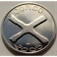 """Конго. 1500 франков 2005 год  UC#201  """"Местные деньги"""""""