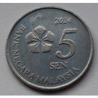 Малайзия 5 сенов, 2004 г.
