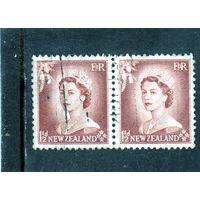 Новая Зеландия.Ми-355.Один и Полпенни.Серия: Королева Елизавета II.1955.