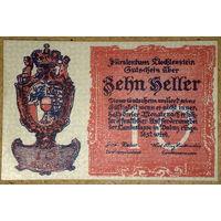 Лихтенштейн 10 геллеров 1920г