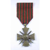 Военный Крест 1914 - 1918. Croix de guerre. Франция. Первая Мировая война