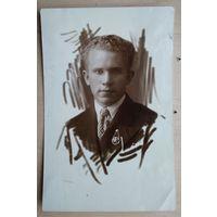 Фото юноши (Уточкин). 1939 г. 9х13 см.