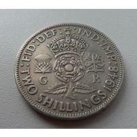 2 шиллинга Великобритания 1948 г.в. KM# 865 FLORIN (Two Shillings), из коллекции