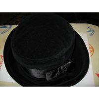 Велюровая женская шляпка р-р 55-56