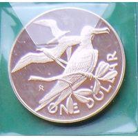 1 доллар 1975г. Британские вирджинские острова.