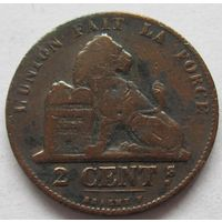 Бельгия 2 сантима 1864