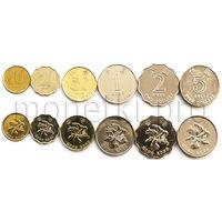 Гонконг 6 монет 1997-2015 годов.