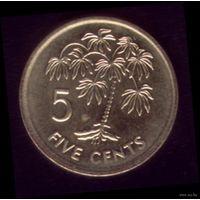 5 центов 2007 год Сейшелы