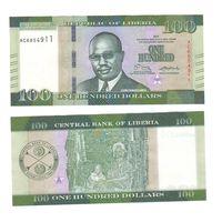 Банкнота Либерия 100 долларов 2017 UNC ПРЕСС новый выпуск