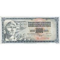 Югославия 1000 динар 1981 год   UNC