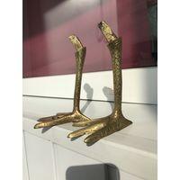 Старинные птичьи ноги, Часть статуэтки и др. Латунь/бронза
