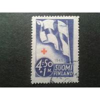 Финляндия 1945 нац. флаг, кр. крест