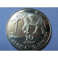 Биафра 10 шиллингов 2017 г. Африканский слон.