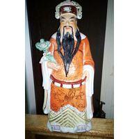 """Большая статуэтка фарфор """"Конфуций"""". Китай 20-30е годы 20 века.36 см."""