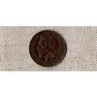 Франция 5 сантимов 1861/Наполеон(состояние)/(Oct)
