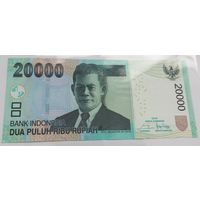 Индонезия 20 000 рупий 2016 года (UNC)
