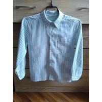 Школьная рубашка в полоску 122 рост