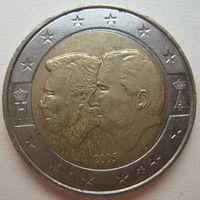 Бельгия 2 евро 2005 г. Бельгийско-Люксембургский экономический союз