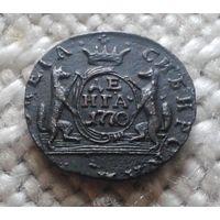 Сибирская монета Деньга 1770 км  Красивая с хорошим рельефом! Оригинал! Выгодная цена!