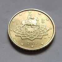 50 евроцентов, Италия 2003 г., AU