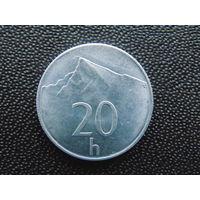 Словакия 20 геллеров 1993 г.