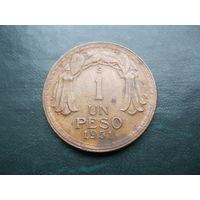 1 песо 1951 г. Чили.