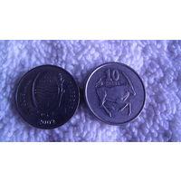 БОТСВАНА 10 зебе 2002г. Сернобык. распродажа
