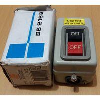 Пост кнопочный BS216B 500V 15A 2.2kW 3P 2 кнопки