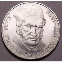 """ФРГ, 5 марок 1977 год,  """"Фридрих Гаус"""""""