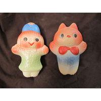 Игрушки-пищалки резиновые старые 50-60 годы. Цена за ОДНУ игрушку