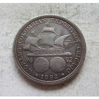 США 1/2 доллара 1892 Колумбийская выставка, серебро - не 1893, пореже!