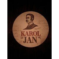 """Подставку под пиво """"Karol Jan""""."""