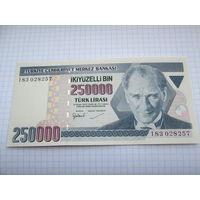 Турция. 250 000 лир (образца 1998 года, P211, UNC)