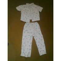 Пижама детская (штаны + рубашка), рост 122-128см., 100% хлопок