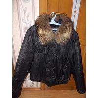 Куртка мужская зимняя, р-р 50-52, натуральный мех, отличное состояние