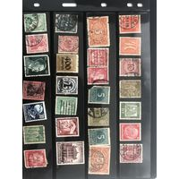 Большой лот марок Третьего рейха 1. Есть чистые дорогие марки.  Все на фото!  С 1 руб!