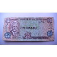 Ямайка 5 доллара 1989г.    распродажа