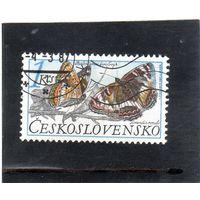 Чехословакия.Ми-2902. Бабочки.Тополя адмирала (Limenitis populi). Серия: Охрана природы. 1987.