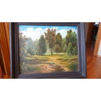 Картина маслом Лесной пейзаж