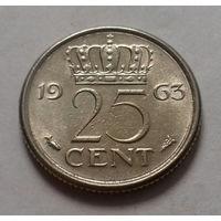 25 центов, Нидерланды 1963 г.