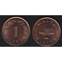 Мальта _km8 1 цент 1977 год (f06)*