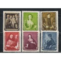 Германия ГДР 1957 Возвращенные СССР шедевры Дрезденской галереи #586-91*
