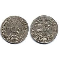 Трояк 1563, Жигимонт Август, Вильно. Окончания легенд: Ав - LI, Рв - LI. Остатки штемпельного блеска, коллекционное состояние