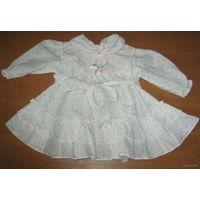 Платье на крещение 3-6мес