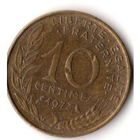 Франция 10 сантимов 1973