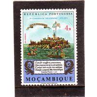 """Мозамбик.  Mi:MZ 562. Мозамбик в 16 веке. 400-летие публикации """"Лусиады"""" Камоэнса.1972."""