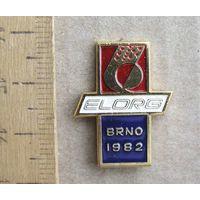 Значок Выставка ELORG Brno 1982 год