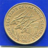 Центральная Африка 25 франков 1982 , Антилопы Канна
