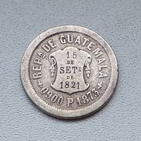 Гватемалы 2 реала 1873 4-16-9
