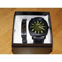 Hugo Boss (replica) мужские наручные часы и браслет (набор)